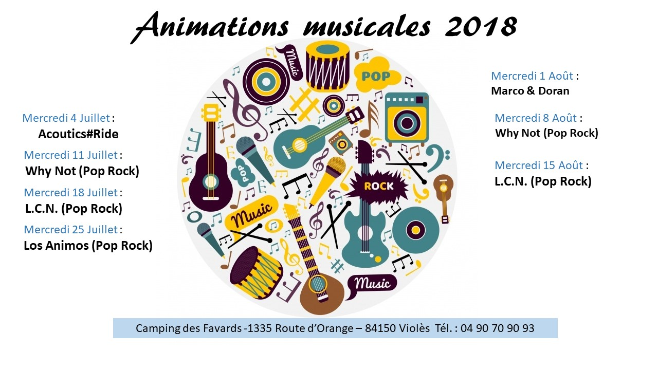 Animations musicales 2018